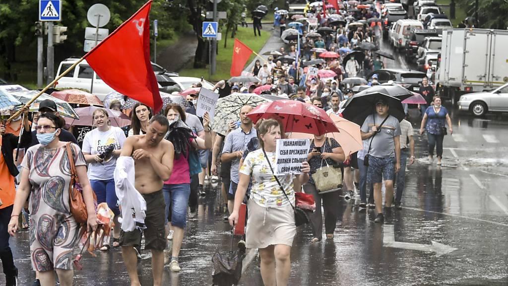 Proteste im Osten Russlands reissen nicht ab