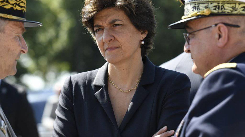 Die abtretende Verteidigungsministerin Sylvie Goulard an einer Gedenkveranstaltung am letzten Sonntag in Suresnes nahe Paris.