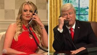 Stormy Daniels nahm in der Sendung «Saturday Night Live» Trump aufs Korn.