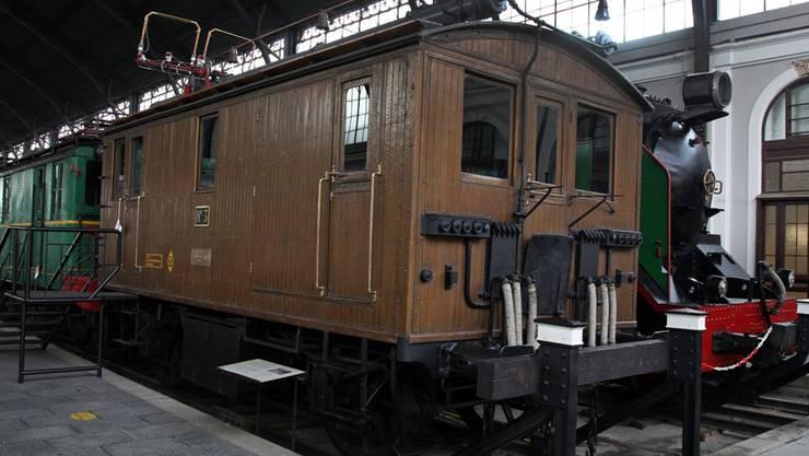 Im Railway Museum Madrid steht ein 1907 in Schlieren erbauter Gepäcktriebwagen.