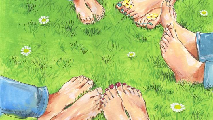 Kann zu Liebeslust und -frust führen: eine polyamore Beziehung. Illustration: Alexia Papadopoulos