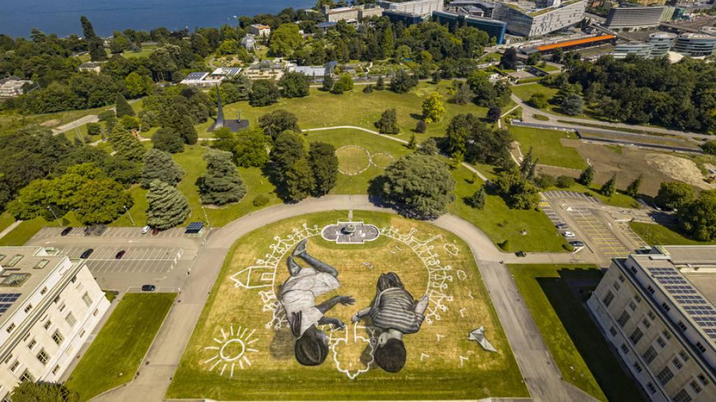 Schweiz schenkt Uno Graffiti-Gemälde zu 75 Jahre Uno-Charta