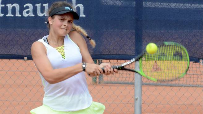 Alina Granwehr holte den einzigen Punkt im Einzel für die NLB-Frauen des TC Zofingen.