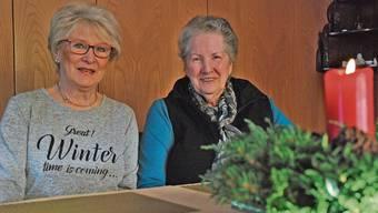 Das ganze Jahr über freuten sich die Spittel-Bewohner auf den Besuch von Emma Battiston (l) und Regine Remund.