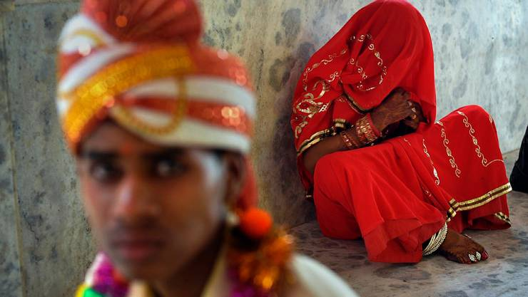 Trotz eines Verbots ist die Kinderheirat in Indien noch immer verbreitet.