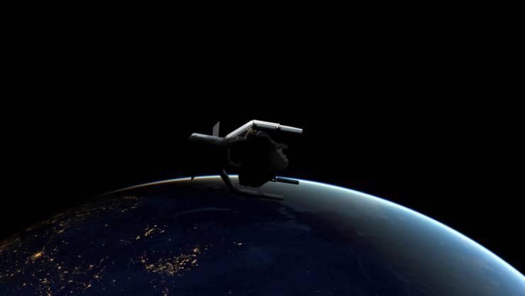 Die Clearspace-1-Mission soll im Jahr 2025 starten und ein ausgedientes Raketenteil einfangen.