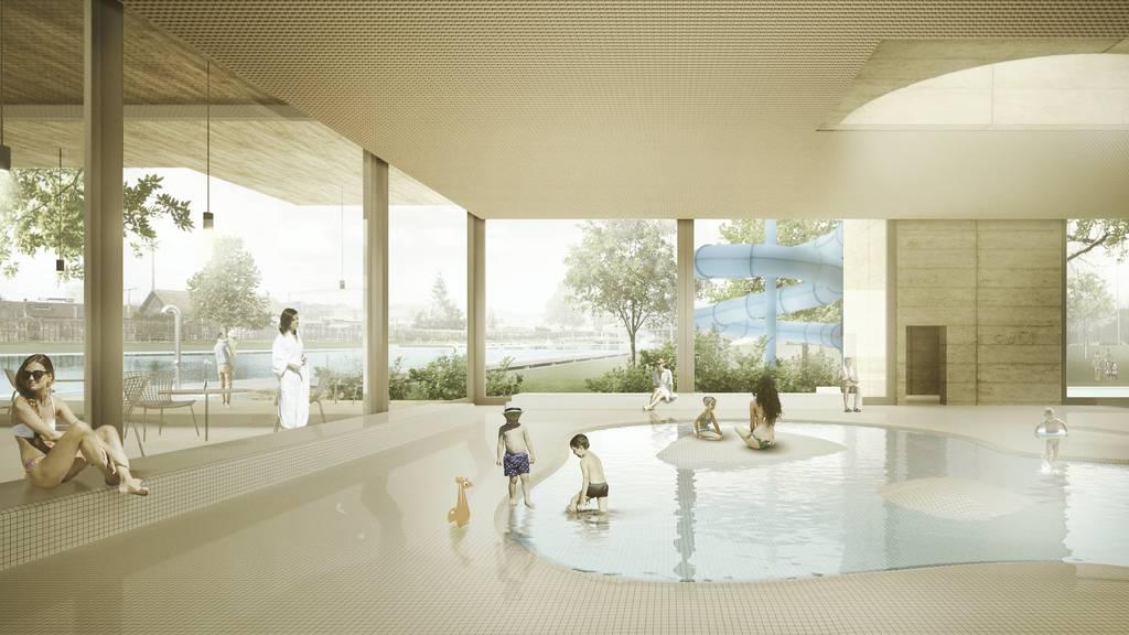 Eine Bäderlandschaft, die in sich stimmig ist: So soll das neue Gossauer Hallenbad aussehen.