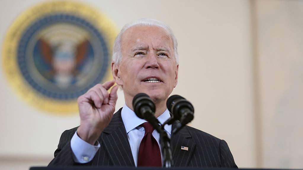 US-Präsident Joe Biden gedenkt mit einer Ansprache der rund 500.000 Corona-Toten im Land. Foto: Evan Vucci/AP/dpa