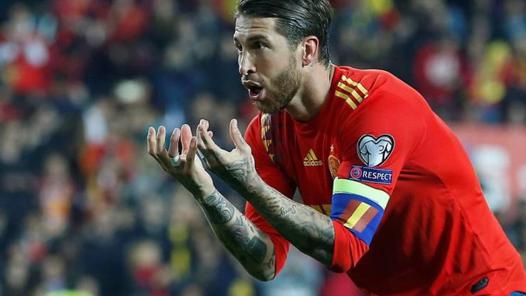 Schiesst Tor um Tor: Spaniens Captain Sergio Ramos