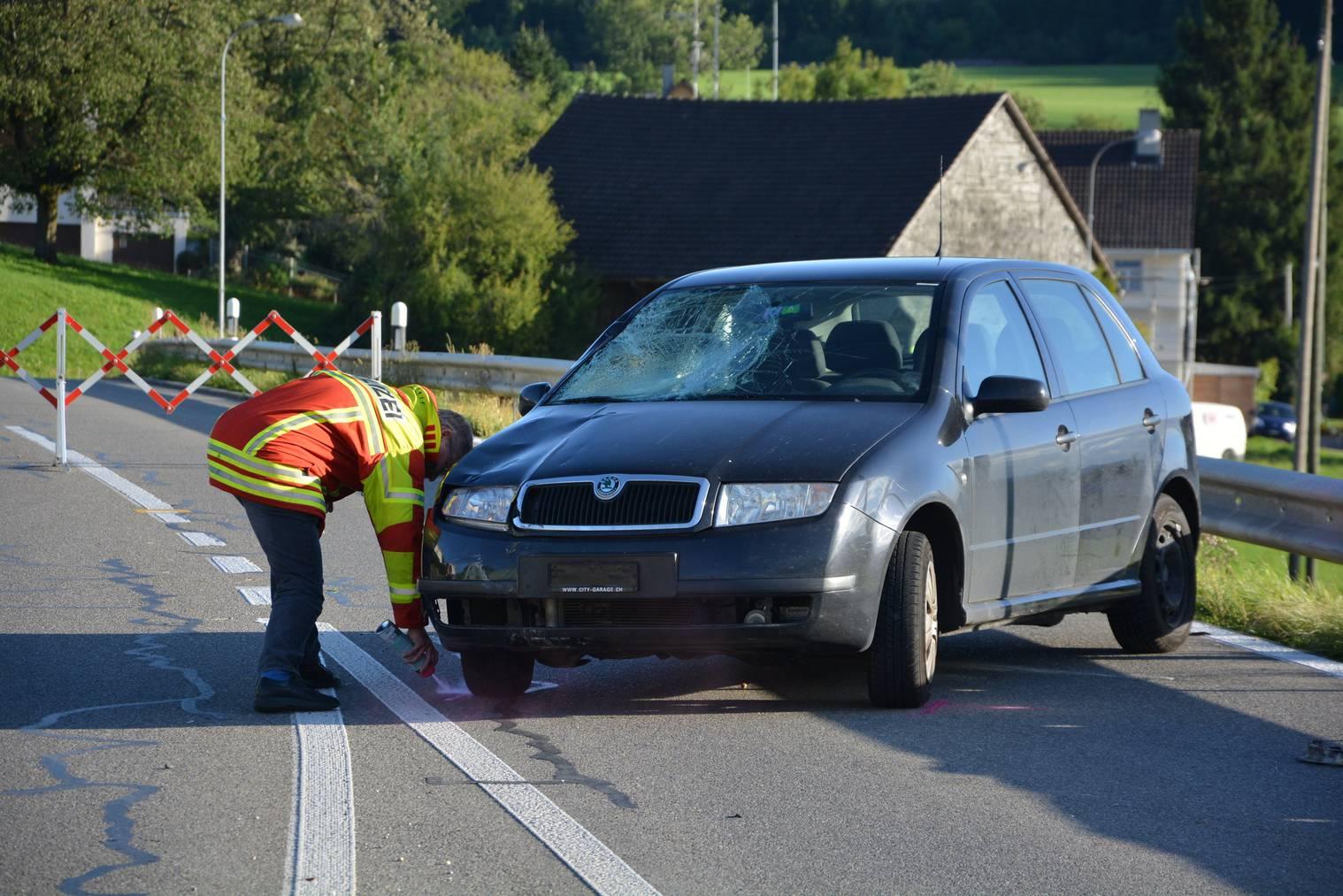 Das in den Unfall involvierte Auto (Bild: Kapo TG)