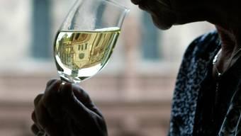 Bei der Berufsschau in Wettingen gab es Wein aus Österreich für die Gäste. (Symbolbild)