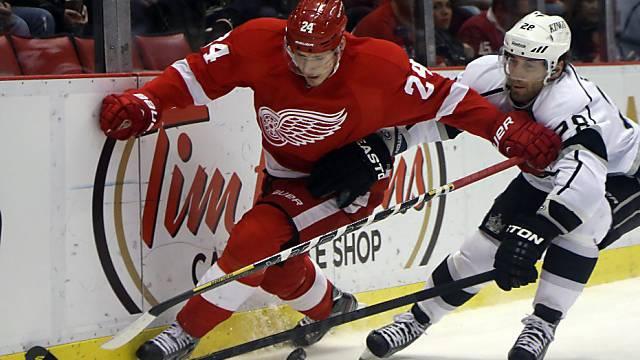 NHL-Rookie Damien Brunner (links) mit viertem Playoff-Tor