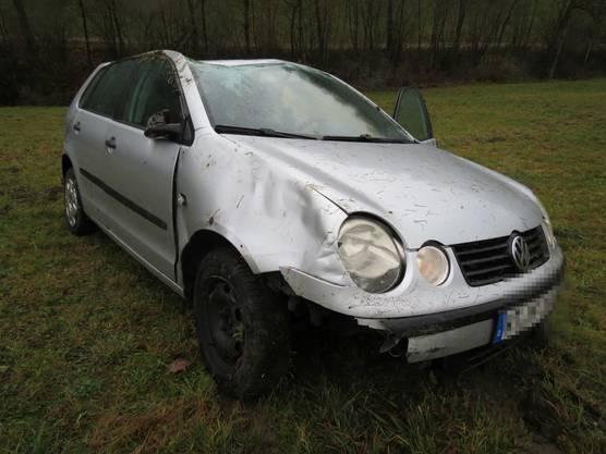 Das Auto hat allerdings einen Totalschaden.
