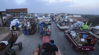 Mehr als 230'000 Menschen sind nach Angaben des Uno-Nothilfebüros Ocha durch massive syrische und russische Luftangriffe im Nordwesten Syriens zur Flucht gezwungen worden. (Bild vom 24. Dezember)