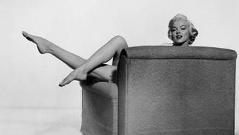 Wurde auch liegend fotografiert: Marilyn Monroe