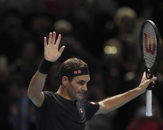 Roger Federer gewann seine zweite Partie an den ATP Finals gegen Matteo Berrettini und wahrte damit seine Chancen auf die Halbfinal-Qualifikation.