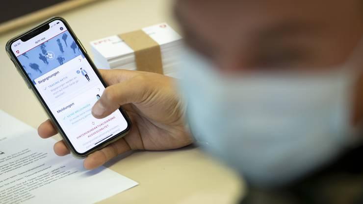 Die Benützung der Schweizer Tracing-App wird freiwillig sein.