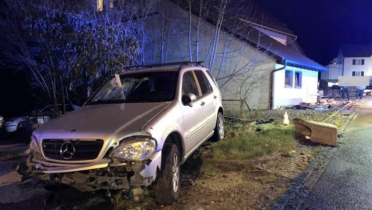 Ein Angetrunkener baute in Wittnau einen Unfall.