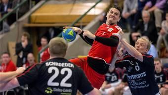 Bundesliga-Söldner Andy Schmid, hier in der Partie gegen Luxemburg, ist der grosse Leistungsträger im Team der Schweizer Nationalmannschaft.