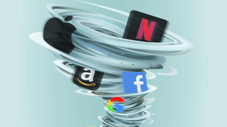 Mehrere der Tech-Vorzeigeunternehmen wie Facebook oder Apple haben an der Börse massiv an Wert eingebüsst.