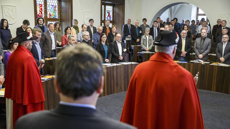 Vereidigung des neu gewählten Kantonsrats im Mai.