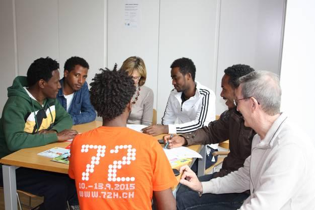 Im Café Contact können sich Asylsuchende und Anwohner begegnen