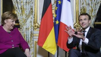 Emmanuel Macron und Angela Merkel am Freitag im Elysée-Palast in Paris.