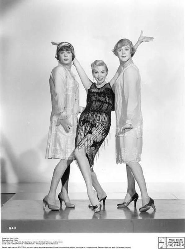 Tony Curtis, Sandy Warner und Jack Lemmon.