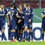Die Bochumer Spieler jubeln über den 2:2-Ausgleich durch Robert Tesche in der Nachspielzeit.