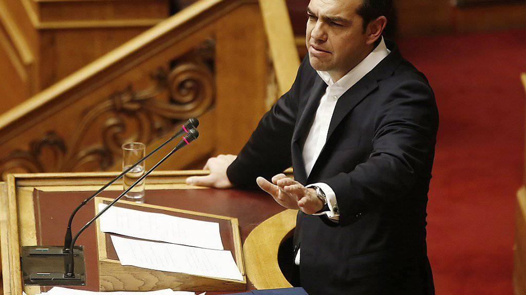 Der griechische Ministerpräsident Alexis Tsipras erklärt mit der Verabschiedung des jüngsten Haushaltsplans am Dienstag die Finanzkrise seines Landes für beendet.