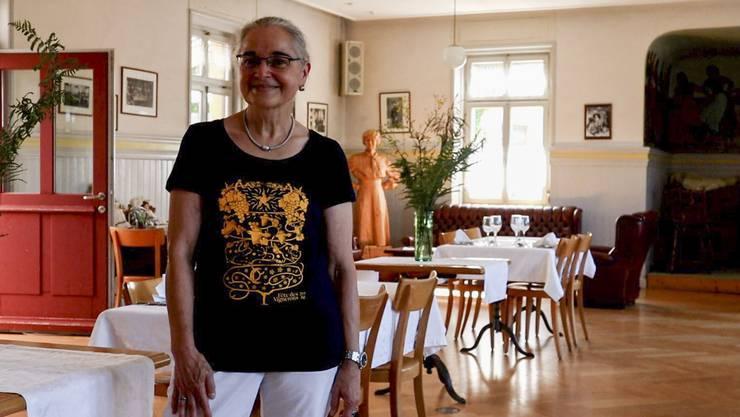Zusammen mit ihrem Mann Bruno hat Evelyne Bernasconi 2015 das Hotel de la Gare für 750'000 Franken ersteigert.