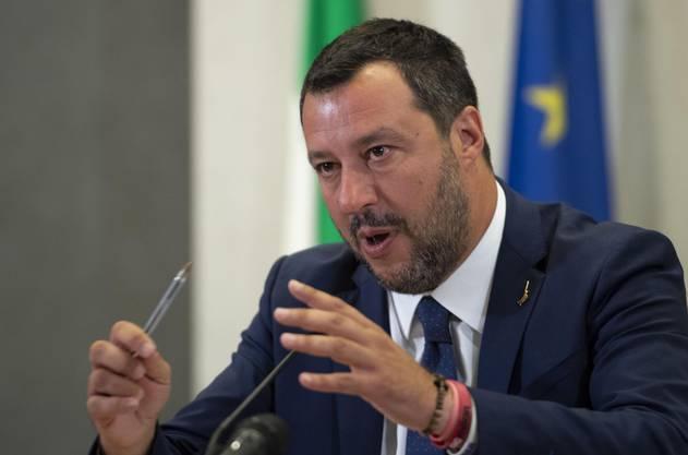 Will den Fahndungserfolg auf sein Konto verbuchen: Italiens Innenminister Matteo Salvini.