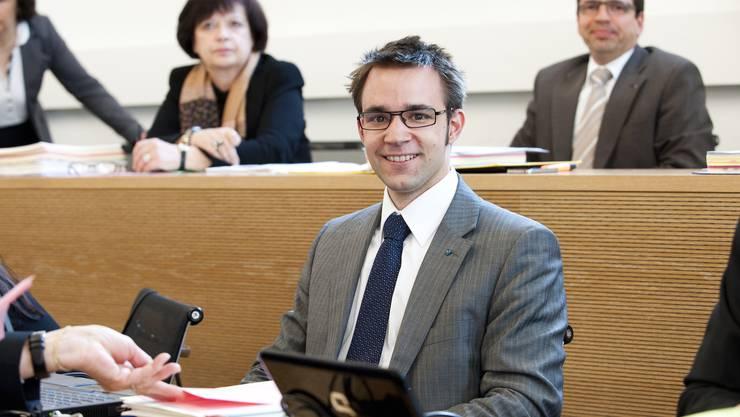 Grossratssitzung und Eroeffungung des Amtsjahres 2012/13. Am 08. Mai 2012 Titus Meier, FDP Grossrat.