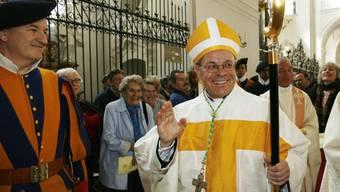 Vitus Huonder wurde im September 2007 im Kloster Einsiedeln zum Bischof geweiht. Jetzt hat er dem Papst aus Altersgründen den Rücktritt angeboten.