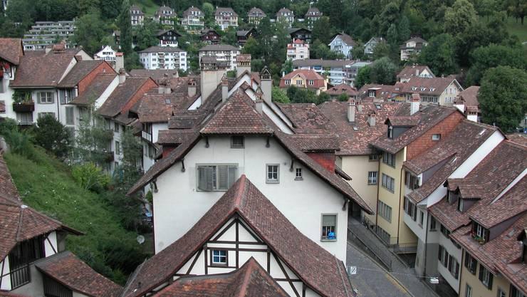 Bern, Altenberg, von der nideggbruecke aus, Wohnen, Matte