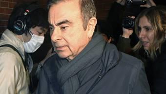 Ein japanisches Gericht erlaubt seine Freilassung gegen eine Millionen-Kaution: Ex-Nissan-Manager Carlos Ghosn. (Archivbild)