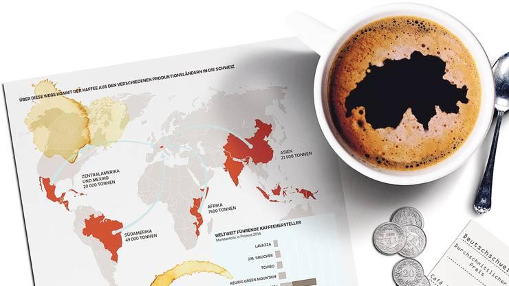 Das Geschäft mit der braunen Bohne: Eine Milliardenbranche und ihre Geschichte in  der Schweiz