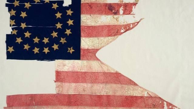 Versteigerte Flagge des siebten US-Kavallerieregiments