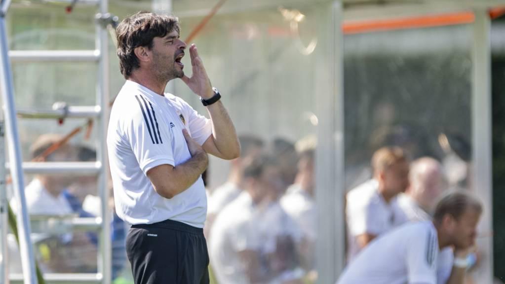 FCB-Coach Ciriaco Sforza hadert in Genf mit dem Schiedsrichter