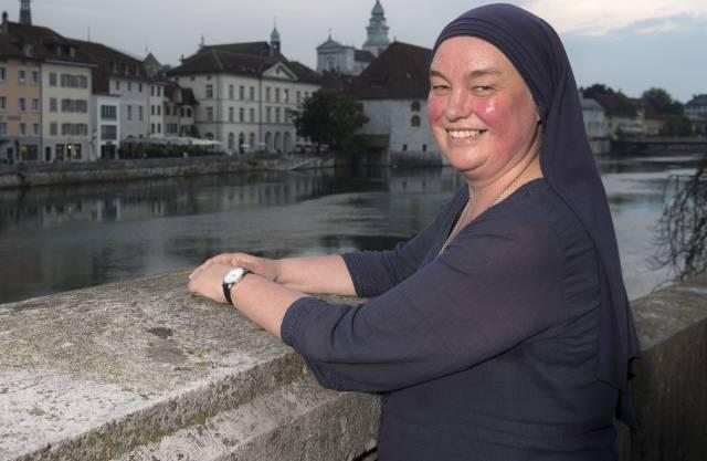 Schwester Benedikta wird im Juni 2014 als neue Einsiedlerin vorgestellt. Insgesamt waren 119 Bewerbungen für die Stelle eingegangen.