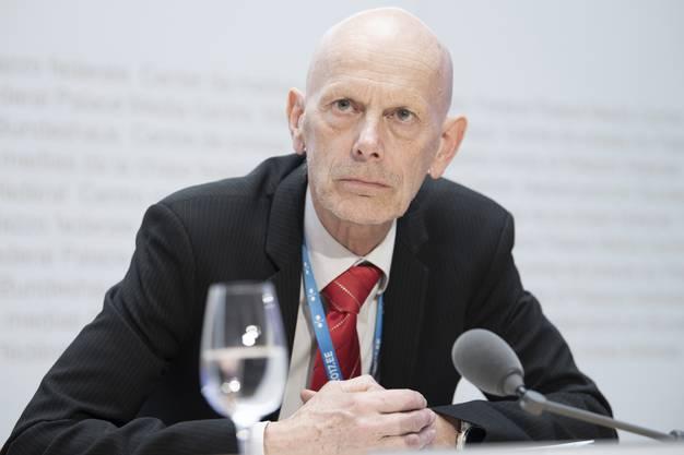 Daniel Koch am 17. März an der Medienkonferenz in Bern.