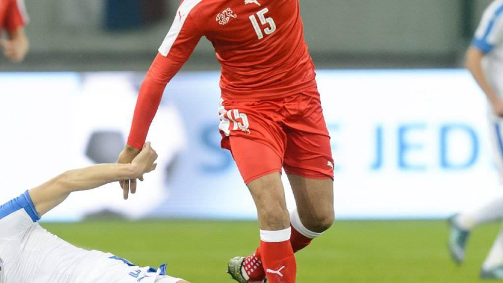 Eren Derdiyok war bei der 2:3-Niederlage gegen die Slowakei einer der Schweizer Torschützen