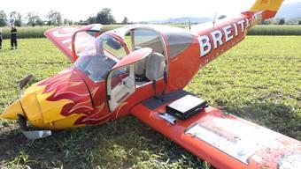 Flugzeugabsturz beim Grenchner Flugplatz