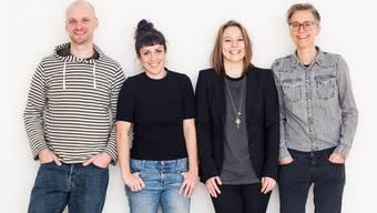 Bernhard la Dous, Larissa Bizer, Franziska Schmidt und Christiane Dankbar vom ProduktionsDOCK Basel.Brigitte Fässler