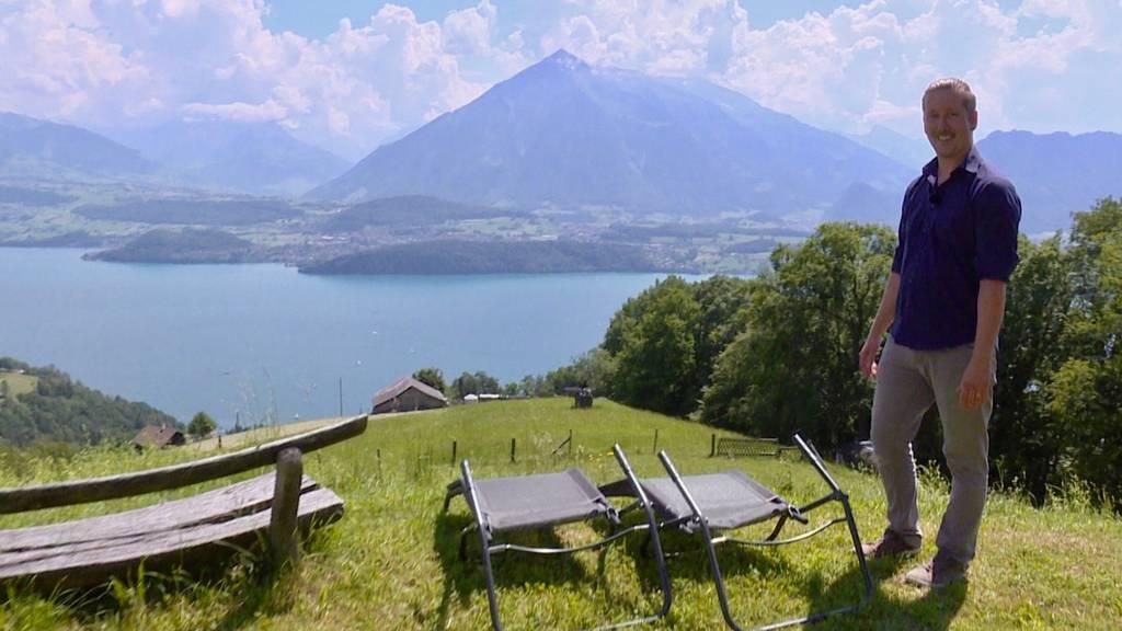 Michael zeigt seine heile Welt im Berner Oberland