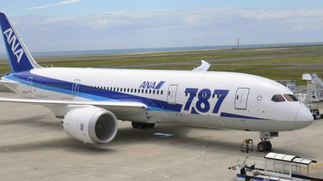 Eine Boeing 787 der All Nippon Airways