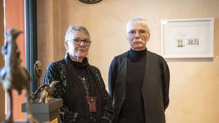Jeannette Lerch und Ernst Mattiello stellen ihre Werke in der Galerie Darkoum in Lostorf aus.