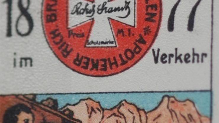 Das Abführmittel des Deutschen Richard Brandt wurde aus werbestrategischen Gründen «Schweizer Pillen» genannt. HO