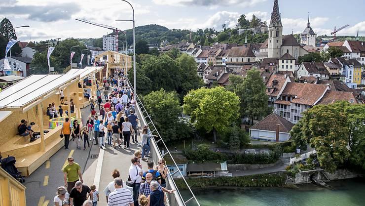 Festfieber: Auch Investoren sind in Baden an einer guten Adresse (Bild von der Badenfahrt 2017, am Samstag, 19. August).