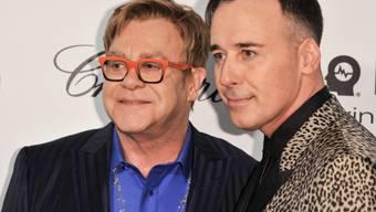 Hochzeit muss warten: Elton John und David Furnish (Archiv)